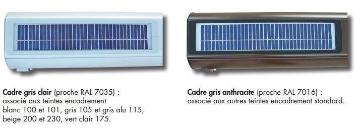 Capteur solaire intégré au caisson titan