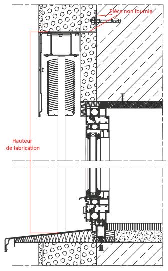 coupe d'intégration d'un BSO encastré