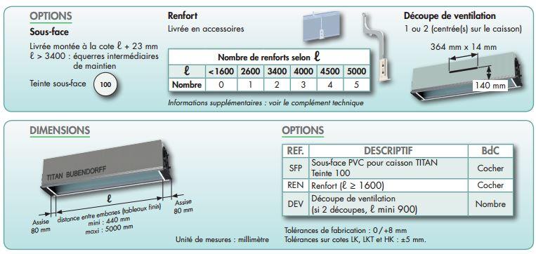 caisson titan bubendorff e28 polystyrene avec enduit. Black Bedroom Furniture Sets. Home Design Ideas