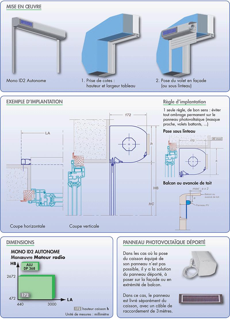 Mono id2 autonome le meilleur volet roulant solaire for Entreposage interieur pour vr