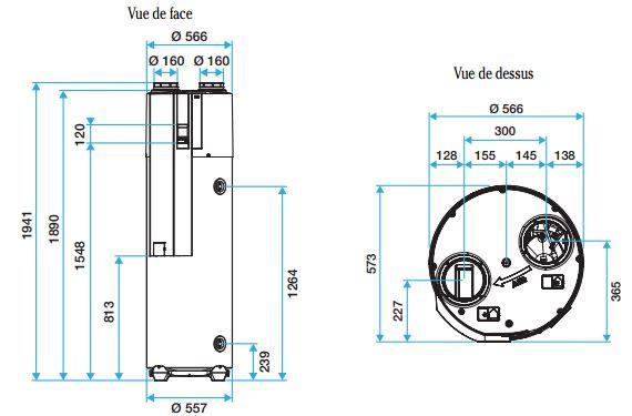 eau chaude sanitaire chauffe eau thermodynamique syst me 2 en 1 chauffe eau. Black Bedroom Furniture Sets. Home Design Ideas